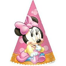 Minnie Mouse 1st Birthday Party Hats 8 Pieces