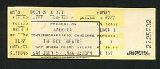 Original 1986 America Unused Concert Ticket St. Louis Fox A Horse With No Name