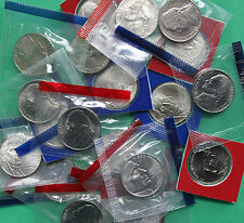 2000 - 2009 BU Jefferson Nickel 24 P&D Coins Satin US Mint Set Cello Wrapped Lot