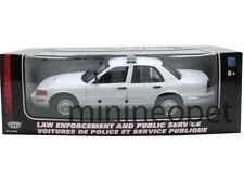 MOTORMAX 73517 2001 FORD CROWN VICTORIA UNMARKED POLICE CAR 1/18 WHITE