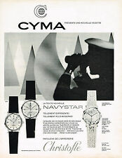 PUBLICITE ADVERTISING 084  1964  CYMA  la montre NAVYSTAR
