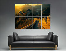 Muraille De Chine China Murail Landscape Sunset Wall Art Poster A0 Large print