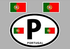 PORTUGAL FLAG WINDOW / BUMPER STICKER FOR CAR BIKE CARAVAN TRAILER