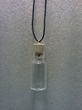 Glass potion wicca spell small Bottle fetish Necklace Pendant CORK gothic