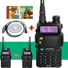Baofeng UV-5R Handheld FM Dual Band Two way Walkie Radio+USB Programming Cable