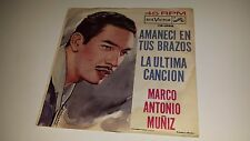 "MARCO ANTONIO MUNIZ La Ultima Cancion RCA VICTOR 1895 7"" 45 VINYL MEXICO IMPORT"
