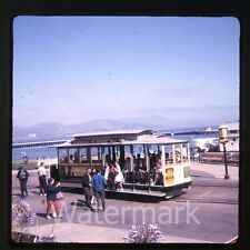 1966 Kodachrome photo slide San Francisco CA cable car