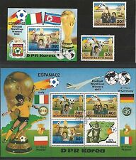 Korea 1982 Football FIFA World Cup Spain 1982 Set Satz ESST Sonderstempel