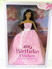 NIB BARBIE DOLL 2014 2015 BIRTHDAY WISHES BLACK AA