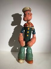 "Vintage 14"" composition POPEYE jointed wood doll figure Cameo Ideal composite"