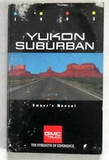 1993 GMC YUKON AND SUBURBAN TRUCK  OWNERS MANUAL