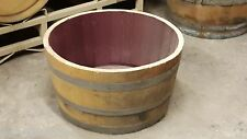 Authentic used half wine barrel planter FREE SHIPPING, LOWEST PRICE ON EBAY!