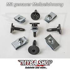 5x Metall Torx Schrauben T30 M6 + Halter Klammern Jeep GM Chrysler Ford #NEU#