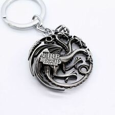 Keychain / Porte-clés - Game of Thrones Targaryen Dynasty Badge 3D - Silver