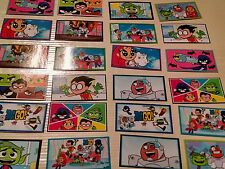 24ct~  TEEN TITANS GO STICKERS, birthday party favor, DECAL, stocking stuffer