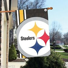 Pittsburgh Steelers 2'x3' NFL Licensed Bold Logo Flag /Banner -Free USA Shipping