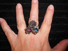 Paparazzi StretchBand Ring (new) GETTING THE SCOOP FLOWERS (BLUE, PURPLE & PINK)