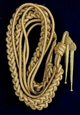 DEURA BRAND ARMY GOLD AIGUILLETTE BRITISH OFFICER $29