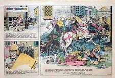 Prince Valiant by Hal Foster - lot of 25 half-page Sunday comics from late 1977