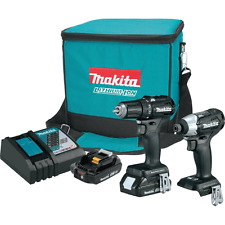 Makita 18V LXT Lithium-Ion Sub-Compact Brushless Cordless 2-Pc. Combo Kit (2.0Ah