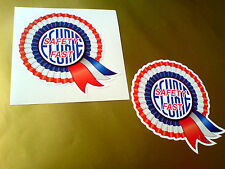 BMC ECURIE SAFETY FAST Helmet Car Classic Retro Car Stickers 1 off pair 80mm