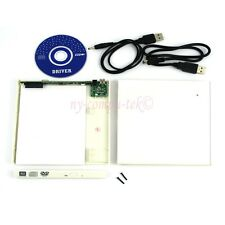 NEW 12.7mm SATA CD DVD RW Burner Drive USB 2.0 Slim External Case Enclosure