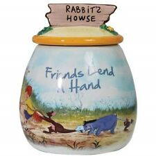 Walt Disney's Winnie the Pooh Friends Lend A Hand Ceramic Cookie Jar, NEW UNUSED