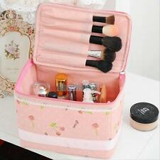 Large Cosmetic Bag Makeup Case Travel Zip Wash Toiletry Organizer Storage Pouch