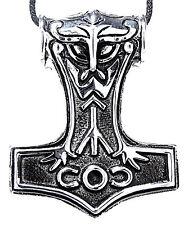 68A großer massiver Thorshammer Anhänger Edelstahl Thor Hammer Mjölnir Wikinger