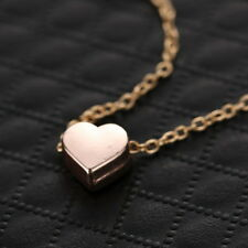 Tiny Rose Gold Forever Love Heart Valentines Gifts Charms Pendant Necklace Xmas