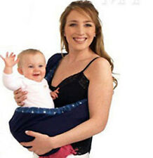 Portabebé portador de hombro Abrigo envolverlo Kids Papoose Bolsa Cuna Bolsa Azul