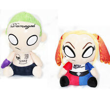 "2pcs 8"" Suicide Squad Plush Joker&Harley Quinn Doll Stuffed Soft Toy Kids Gift"