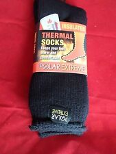 1 Pair Large Polar Extreme Insulated Thermal Socks Mens Made USA 10-13 Black