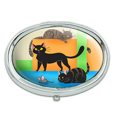 Cat Caboodle Metal Oval Pill Case Box