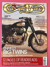 CLASSIC BIKE - August 2001 - BSA B50MX 1971 - Triumph T140 - 1959 Honda CSA76