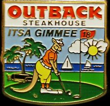 A2673 Outback Steakhouse hat lapel pin It's a Gimmee - Golf