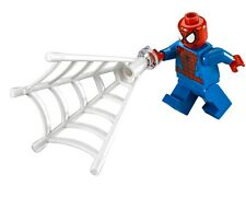 LEGO Marvel Super Heroes SPIDER-MAN MINIFIGURE AUTHENTIC NEW w/ Web 76058