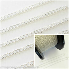 1 Ft Sterling Silver 4x5mm Continuous Curb Chain For Jewellery Making