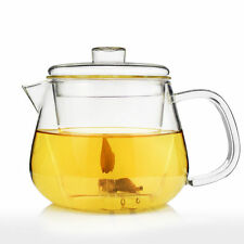UNIHOM - LUCERA 400ml Handmade Glass Teapot with Infuser Strainer Tea Filter