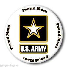 US ARMY STRONG PROUD MOM BUTTON/ BADGE FAVOR Party Supplies FREE SHIPPING