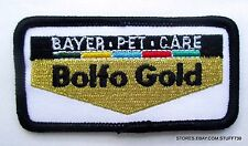 """BAYER BOLFO GOLD PET CARE EMBROIDERED SEW ON PATCH DUTCH LOGO 3 1/4"""" x 1 1/2"""""""
