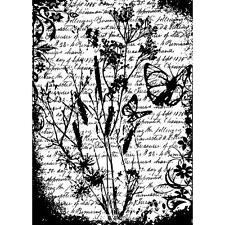 FLUTTER Cling Rubber Stamp ATC Sized by Tim Holtz