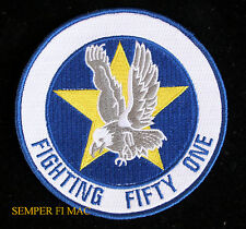 US NAVY AVIATION FIGHTING FIFTY ONE PATCH FIGHTING SQUADRON 51 SCREAMING EAGLES