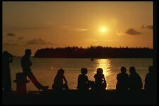 199059 Watching Sunset From Mallory Square Key West Florida A4 Photo Print