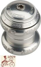 "CHRIS KING NOTHREADSET SOTTO VOCE SILVER 1-1/8"" THREADLESS BICYCLE HEADSET"