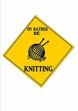 Knitting Sign  Retro Style Sign Kitchen Sign Knitting Wall Plaque