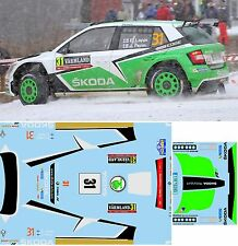 SKODA FABIA R5 LAPPI RALLY SWEDEN  2016 DECALS  1/43