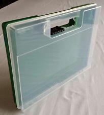 Plastic display Box, Case, Storage, with hinge. 23cm x 17cm x 3cm deep.