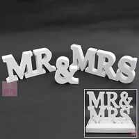 WEDDING | WHITE in Gift Box | Wooden MR and MRS Letters | MR & MRS Sign Letters