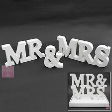 WEDDING | WHITE Gift Box | Wooden MR and MRS Letters | MR & MRS Sign Letters